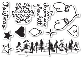Dreaming of a White Christmas Clear Stamp Set CL442