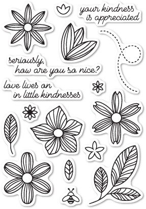 Poppystamps Little Kindness clear stamp set cl445