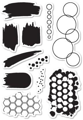 Poppystamps Studio Blotter clear stamp set (cl449)