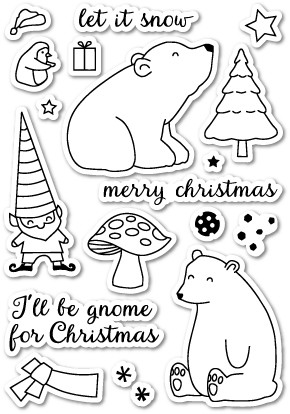 Gnome For Christmas Clear Stamp Set