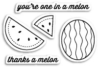 Thanks a Melon Clear Stamp Set (cl5178)