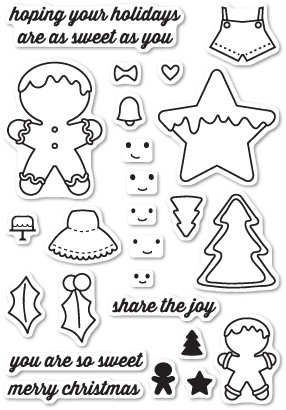 Frosted Christmas Clear Stamp Set CL5183
