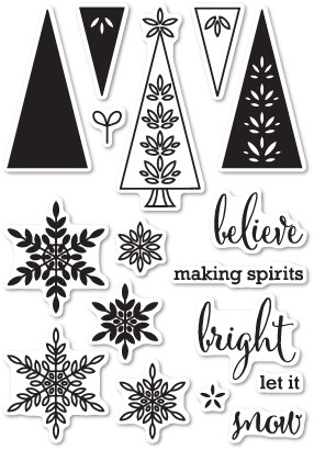 Making Spirits Bright Clear Stamp Set CL5186