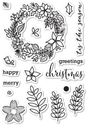 Christmas Botanicals Clear Stamp Set CL5187