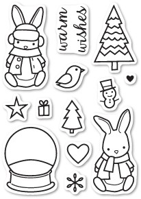 Bunny Wishes Clear Stamp Set CL5192