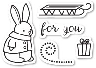 Bunny Gift Clear Stamp Set CL5193