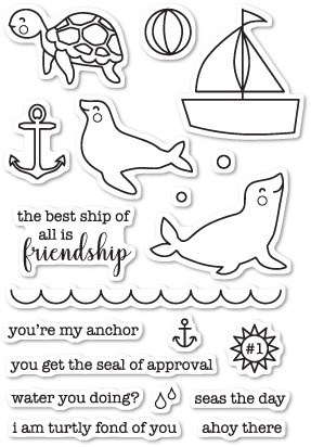 Memory Box Seal of Approval clear stamp set (cl5198)