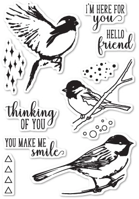 Memory Box Bird Sanctuary clear stamp set CL5201