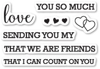 Memory Box Love Sentiments clear stamp set (cl5207)