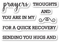 Memory Box Prayers Sentiments clear stamp set (cl5208)