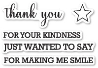 Memory Box Thank You Sentiments clear stamp set (cl5210)