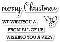 Memory Box Merry Christmas Sentiments Clear Stamp Set   CL5212