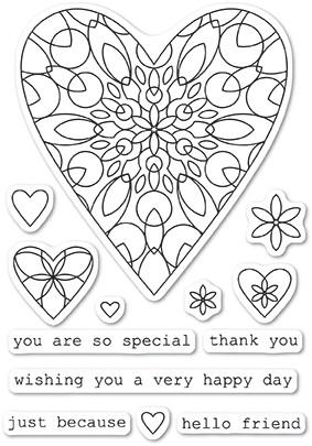 Wirework Hearts clear stamp set