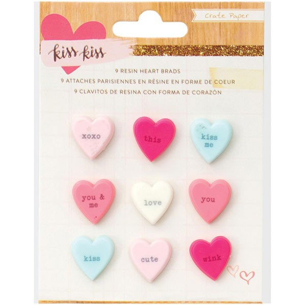 Kiss Kiss Resin Embellishments