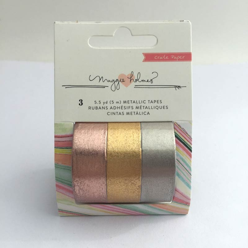 Metallic Tape Set from Crate Paper