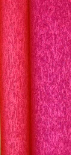 doublette crepe paper - red and wine