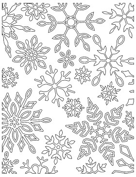 Dancing Snowflakes Cling Stamp (CS2215j)