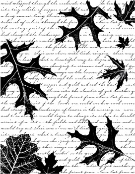 Drifting Oak Leaves cling stamp (CS2217j)