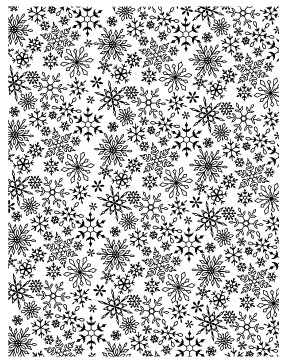 Sky Full of Snowflakes Cling Stamp (CS2219j)