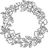 Blooming Sketch Wreath (D2038)