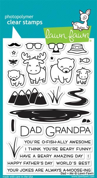 Lawn Fawn Dad + Me Clear Stamp Set