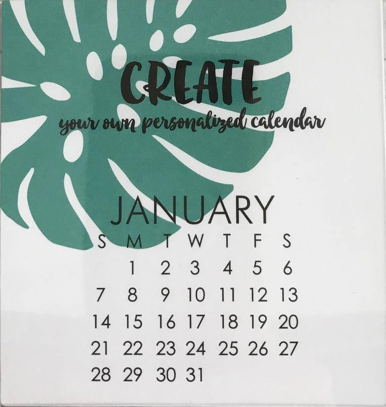 Small Impress 2018 DIY Calendar Refill