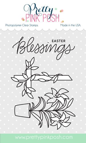 Pretty Pink Posh Easter Blessings Clear Stamp Set