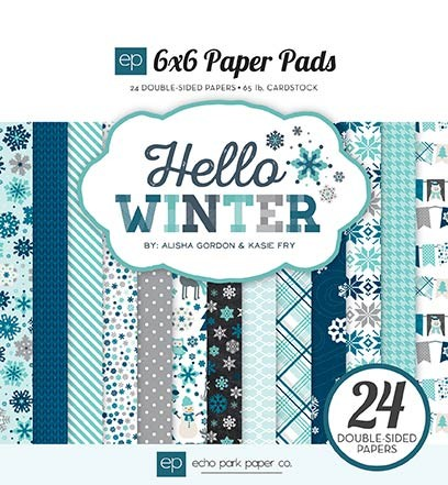 Echo Park Hello Winter 6x6 Paper Pack