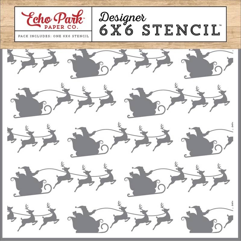 Santa and Sleigh Stencil