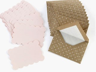 Kraft Swiss Dot Envelopes