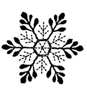 5481d - embroidered snow star