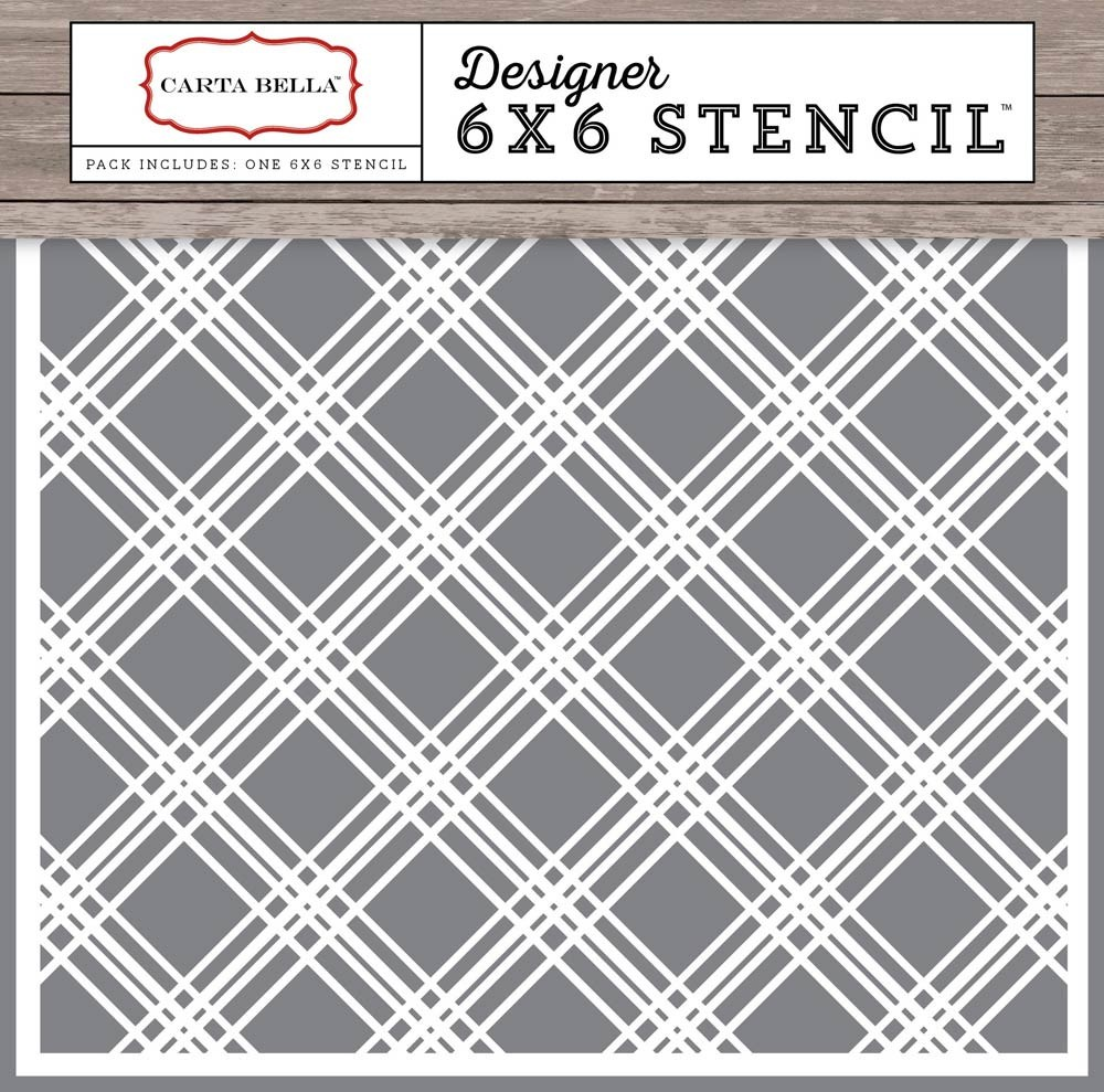 Carta Bella Plaid Stencil