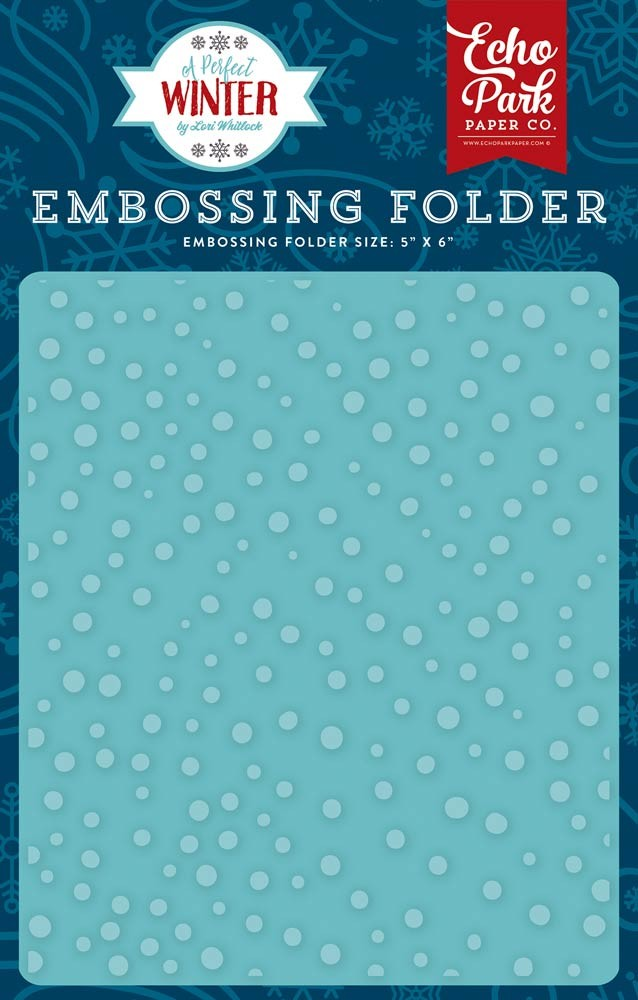 Echo Park Snow Day Embossing Folder