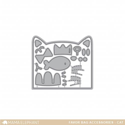 Mama Elephant Favor Bag Accessory - Cat