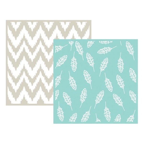 Feathers 6x6 embossing folder