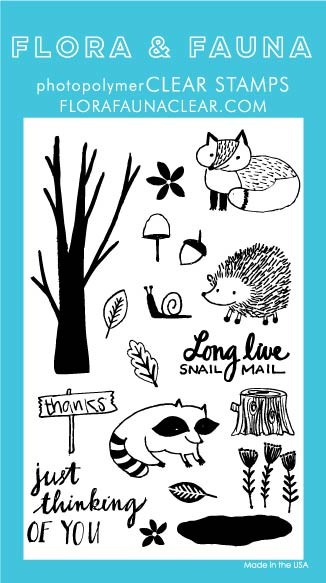Flora & Fauna Woodland Clear Stamp Set