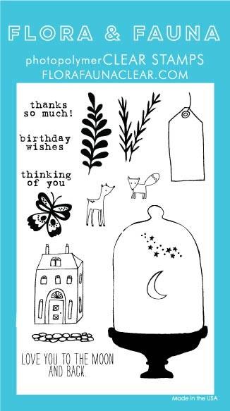 Flora & Fauna Glass Dome Clear Stamp Set