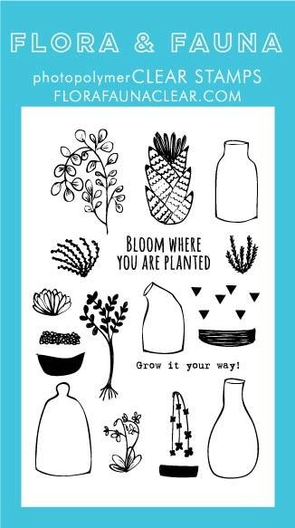 Flora & Fauna Succulent Clear Stamp Set