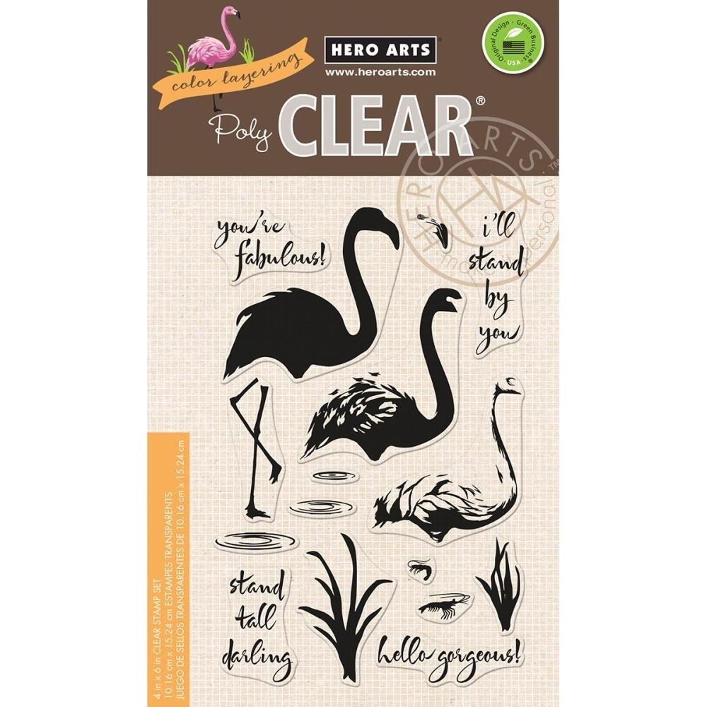 Hero Arts Flamingo Stamp Set