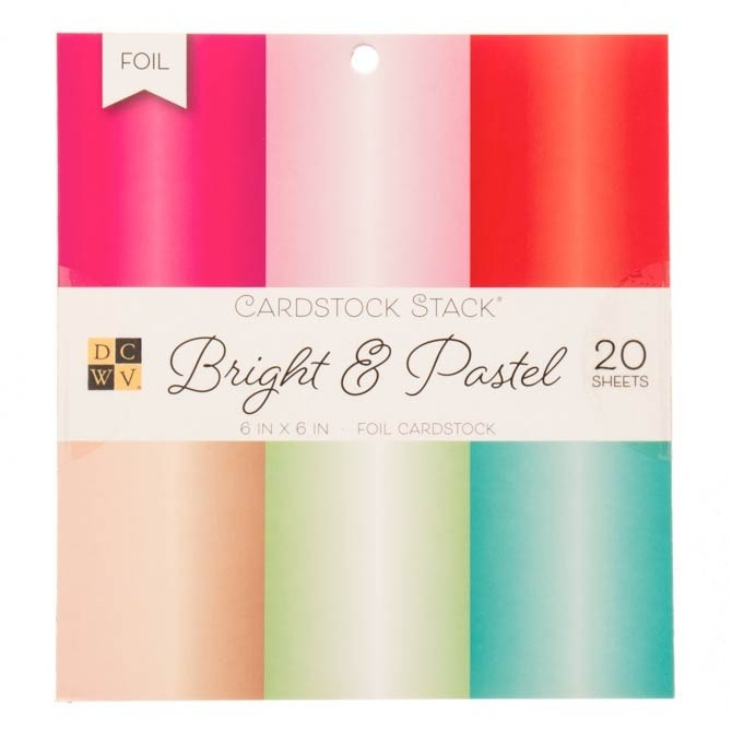Bright and Pastel Foil Cardstock