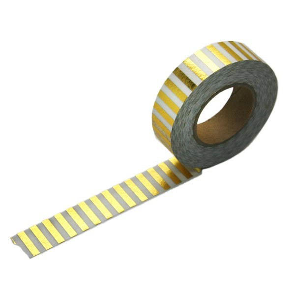 Gold Foil Striped Tape