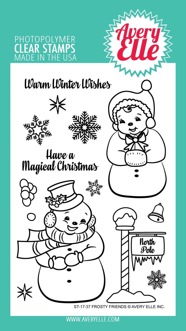 Avery Elle Frosty Friends Clear Stamp Set