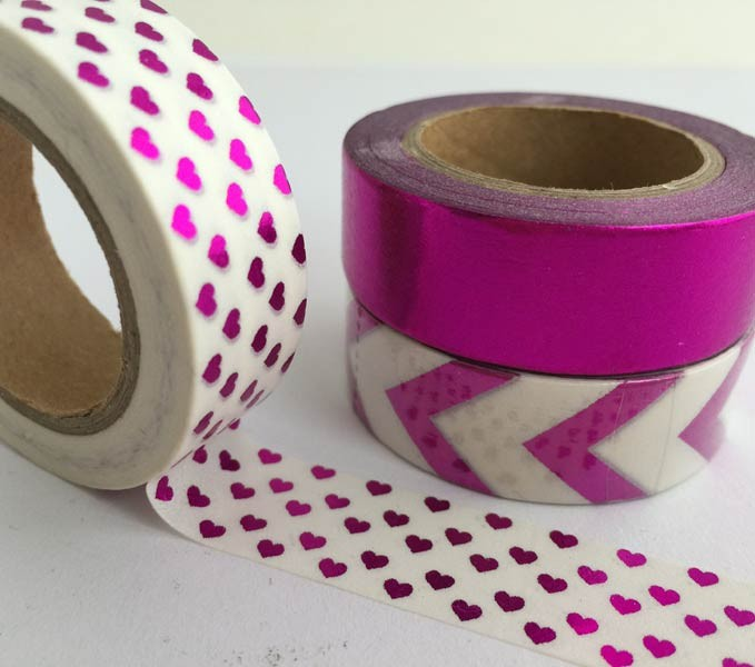Fuschia Foil Washi Tape