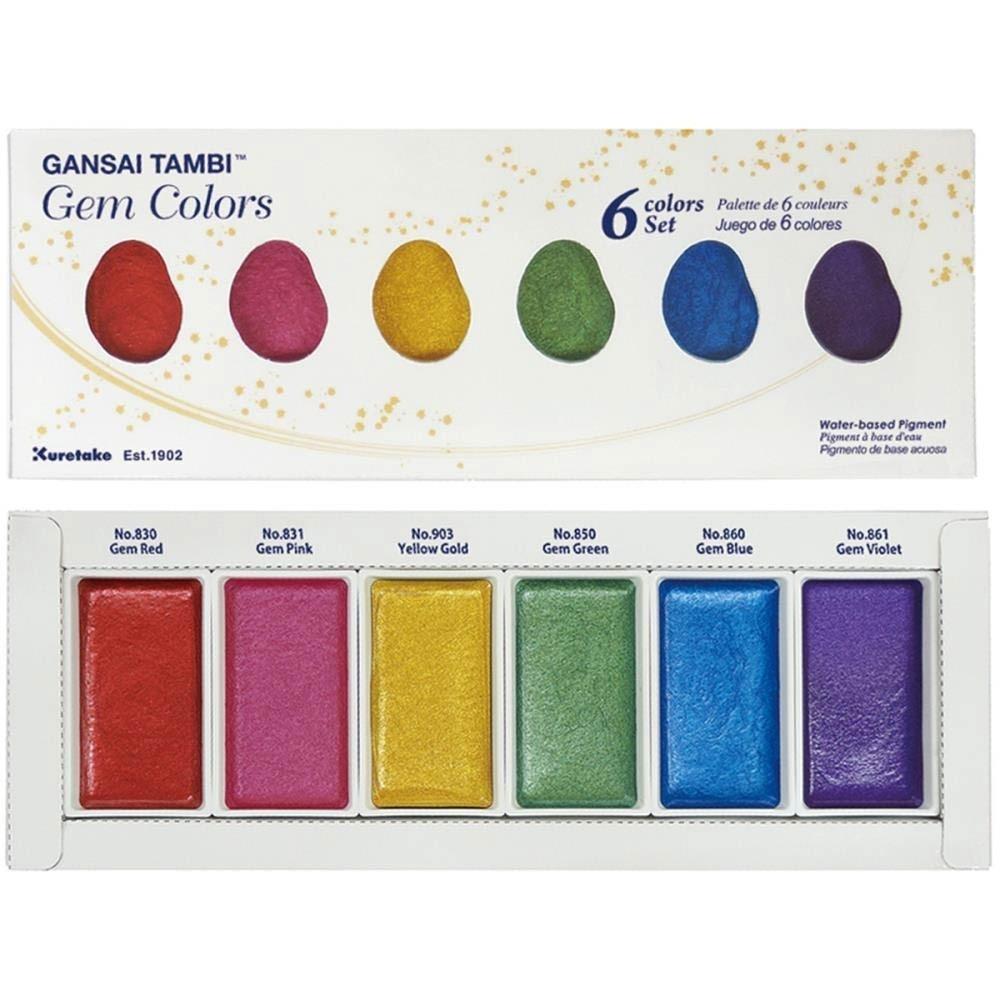 Kuretake Gansai Tambi Watercolors - Gem colors