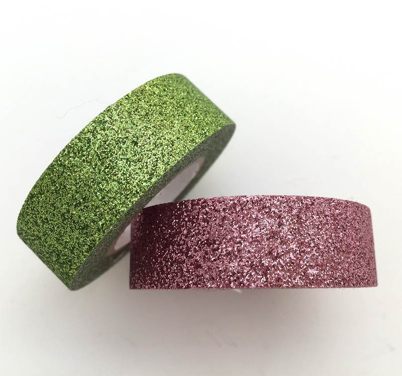 Pink and Green Glitter Tape