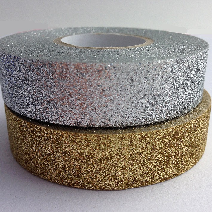 gold and silver glitter tape