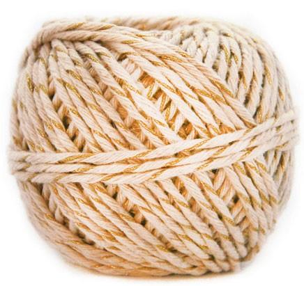 Gold and Natural Hemp Gift Cord