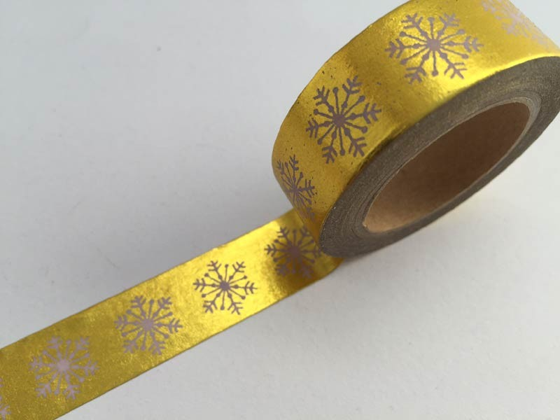 Gold Foil With Snowflake Washi Tape