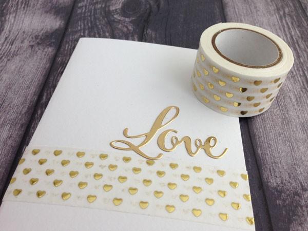 Gold Heart Washi