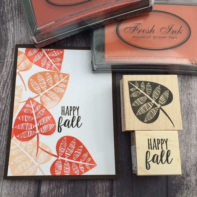Happy Fall Stamp - NEW